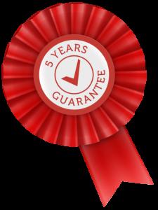 5 year guarantee - Infracomfort infrared heaters