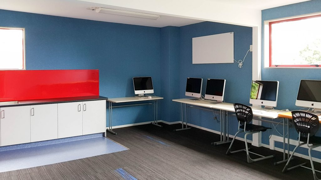 Infracomfort H series far-infrared heat panel wall mounted in new IT  room, Green Meadows School, Auckland.