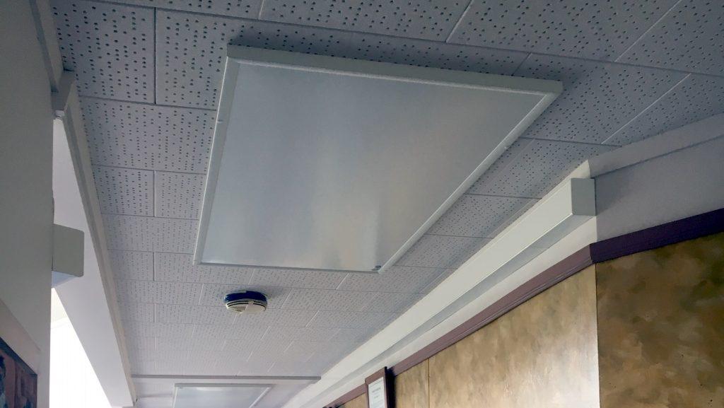 Hikurangi School infrared heating panels