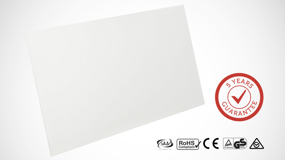 Infracomfort frameless far-infrared heat panels