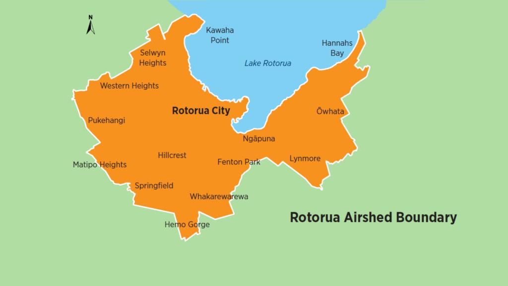 Rotorua Airshed boundary - Clean Air Rotorua