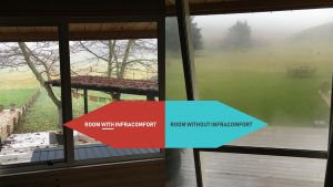 Infrared heating vs condensation on windows